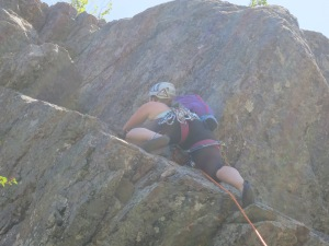 Andrea leading pitch 3