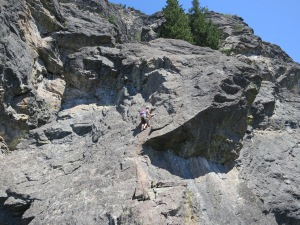 Andrea leading pitch 5
