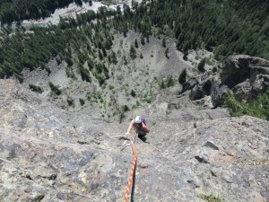 "Andrea on pitch 6 ""rocking the exposure"" (direct quote form Rob)"