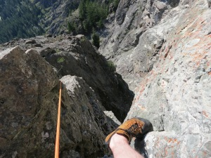 Rob steps over the slot on pitch 10 (lord only knows how Rob took this picture)