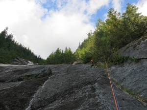 starting to rap our 4th pitch of Otter Falls
