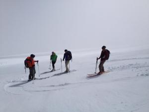 Heading down right below Camp Muir