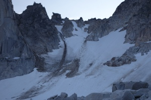 Close-up of the Bugaboo-Snowpatch Col